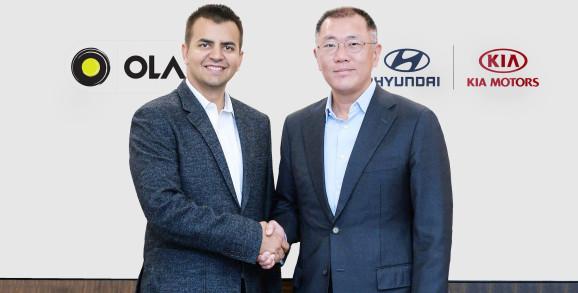 Ola从现代和起亚购买3亿美元用于移动解决方案和电动汽车
