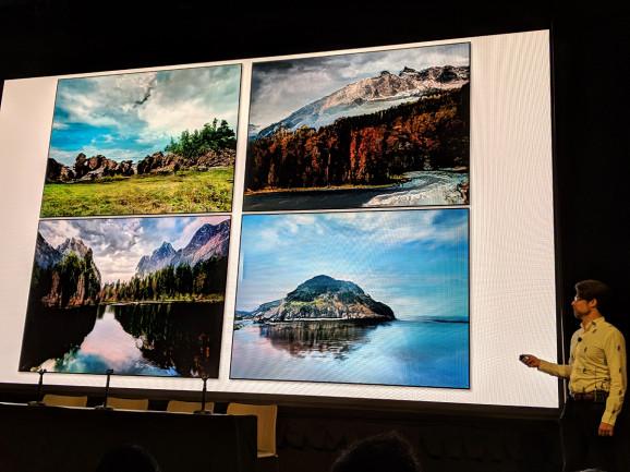 Nvidia的研究人员首次亮相GauGAN AI创造了看似真实的假景观