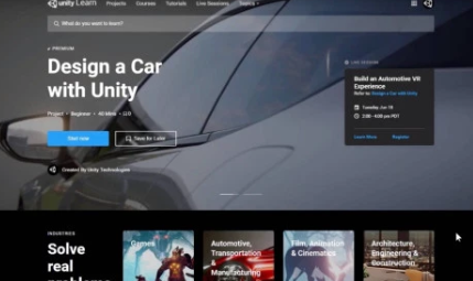 Unity Learn Premium让专业人士可以学习实时3D开发
