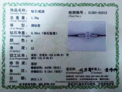 在购买红宝石时应该向商家索要鉴定机构出具的质检证书