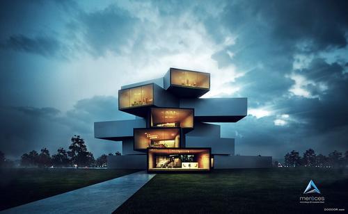 通过建筑可视化工作室CL3VER创建的虚拟现实体验来远程参观建筑物