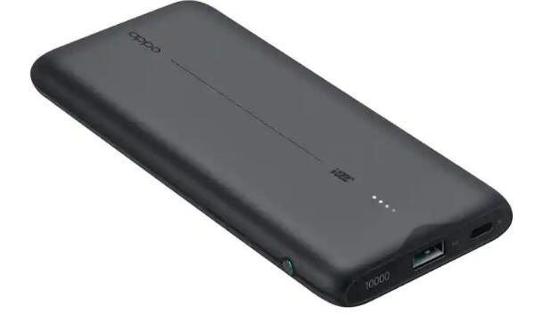 带20W快速充电功能的Oppo 10000mAh闪存充电电源 售价为1499卢比
