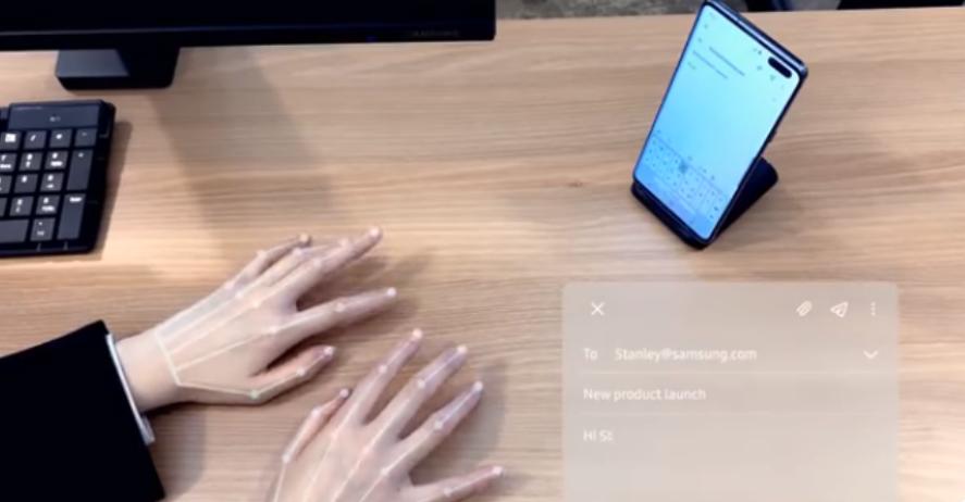 三星SelfieType是CES的无键盘未来的美好愿景