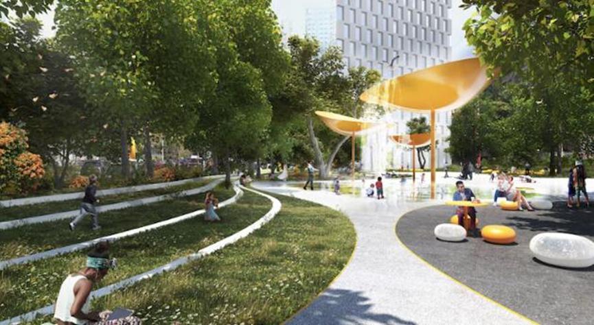 BIG公布了布鲁克林市中心的公共领域愿景