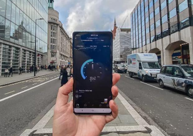 5G在英国五大城市的EE、沃达丰、O2上测试