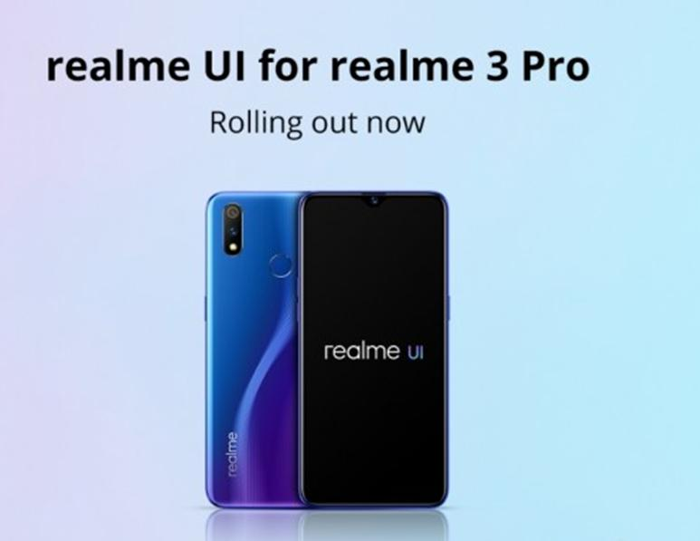 Realme 3 Pro收到Realme UI和Android 10的稳定更新