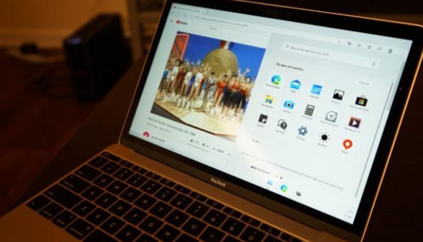 开发人员在苹果MacBook上安装Windows 10X