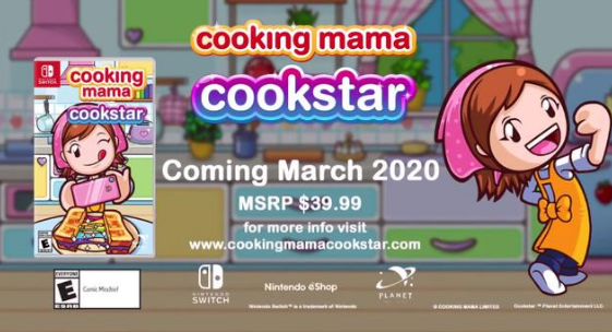 Cookstar可能会在2020年3月登陆Nintendo Switch