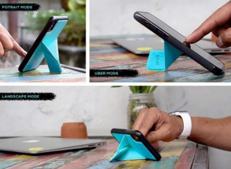 此iPhone手机壳使用折纸样式的折叠件将支架添加到设备中