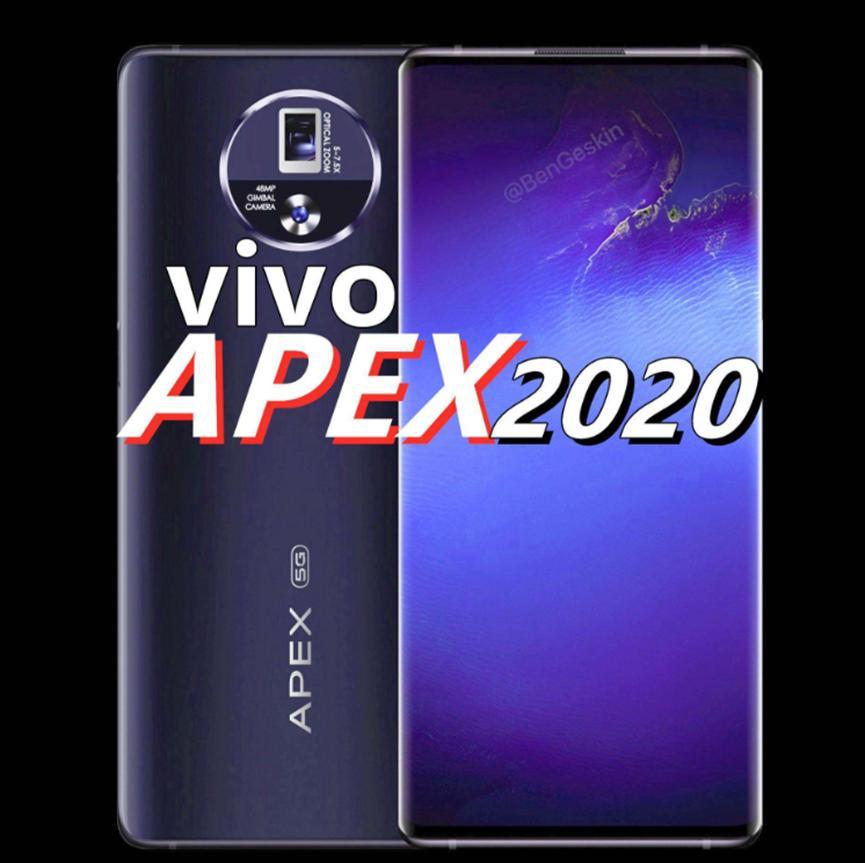 预计Vivo  Apex  2020将配备6.45英寸显示屏两侧均具有120度曲线