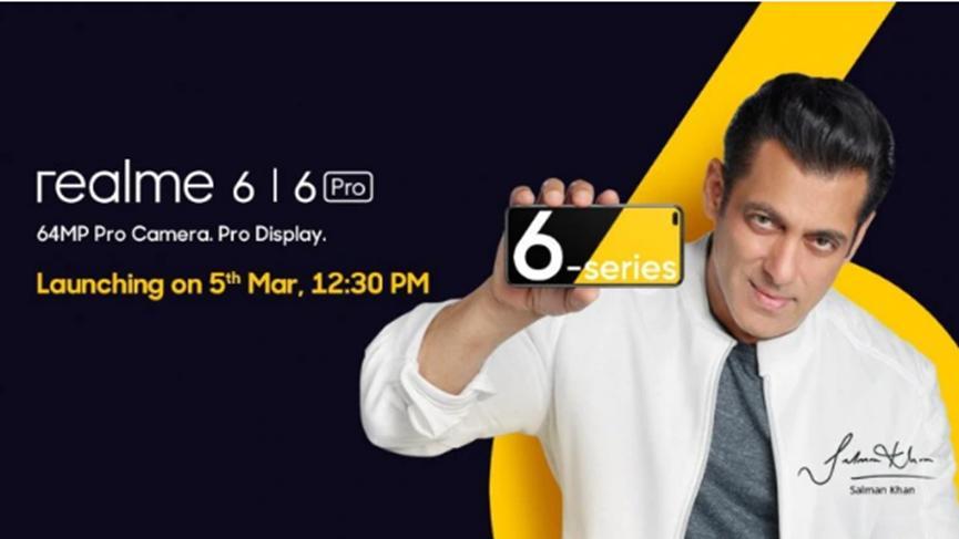 Realme为Realme  6邀请了宝莱坞演员Salman  Khan