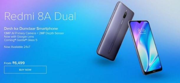 Redmi 8A Dual现在在印度公开发售