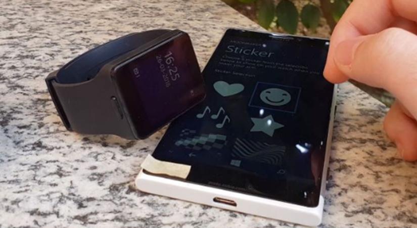 这就是诺基亚Moonraker智能手表的外观