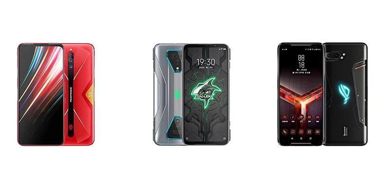 评测:努比亚Red Magic 5G vs黑鲨3 Pro vs华硕ROG Phone 2:规格对比
