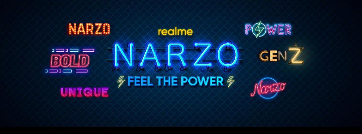 Realme Narzo智能手机系列即将发布,将在Poco和Redmi上亮相