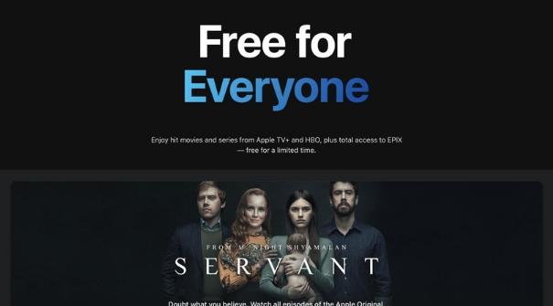 苹果将在限定时间内免费提供一些Apple TV +系列电视