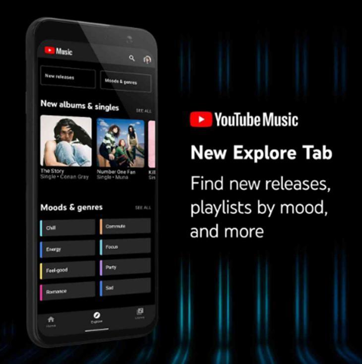 YouTube音乐应用获得浏览标签旨在帮助您发现新音乐