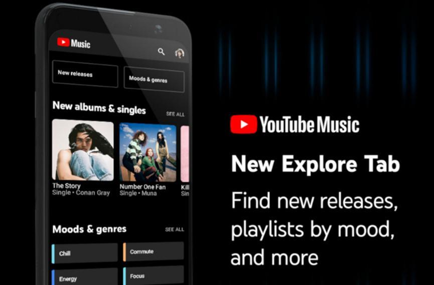 YouTube音乐在最新更新中获得了新的探索功能