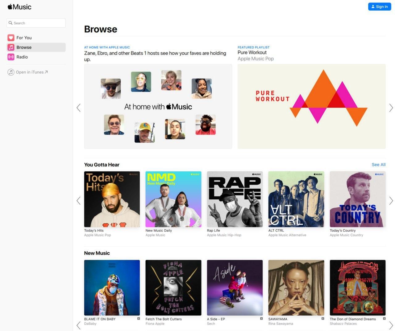 苹果音乐终于可以通过网络接口使用了