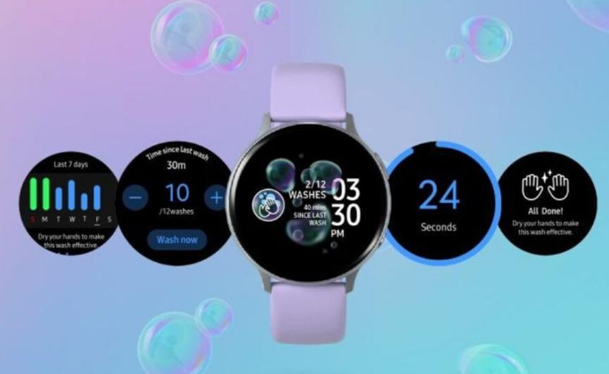 三星通过新的Galaxy Watch应用加入洗手派对