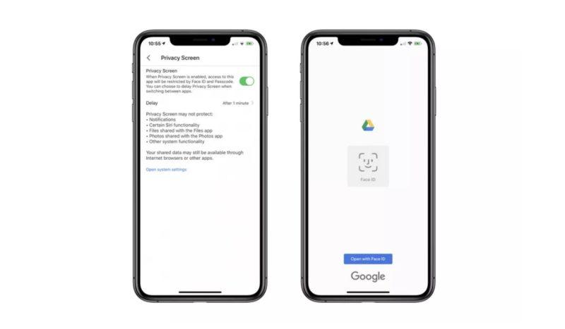 iOS上的Google云端硬盘应用获得了Face ID和Touch ID支持