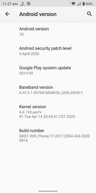 华硕ZenFone Max Pro M1收到2020年4月安全补丁的第二次Android 10 Beta更新
