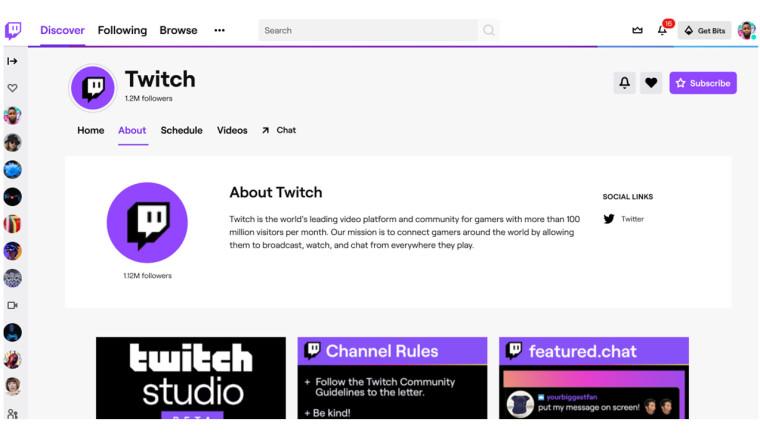 Twitch使用自定义工具和其他工具推出重新设计的频道页面