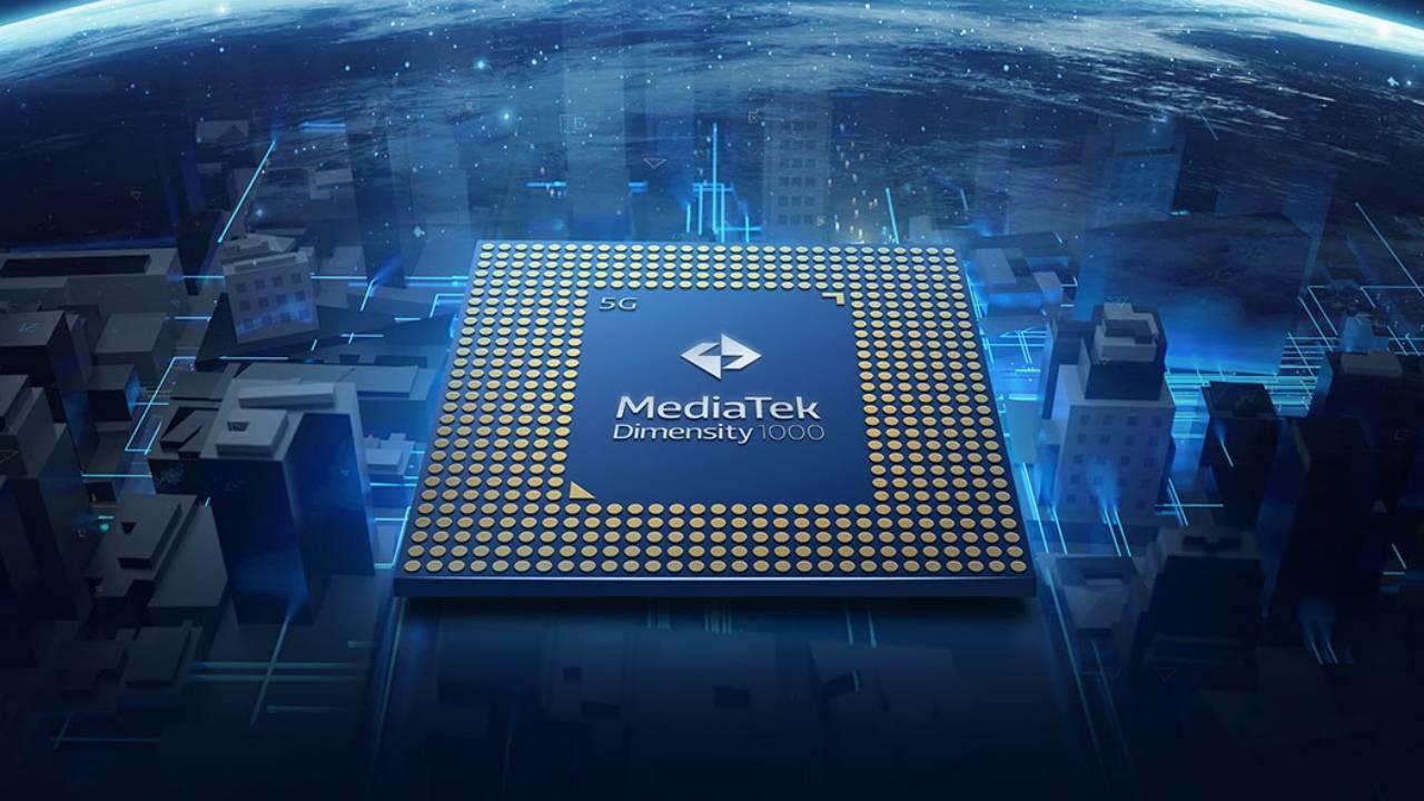 联发科技Dimensity 1000+在内部集成了5G芯片