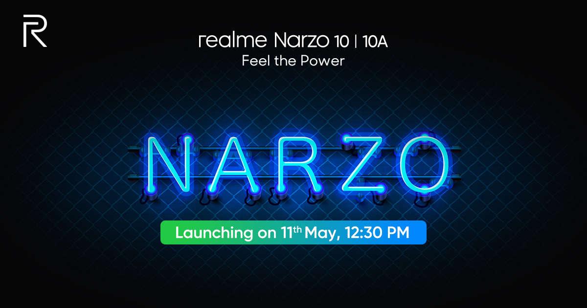 Realme Narzo 10和Narzo 10A India的发布日期已公布,活动将在线播出