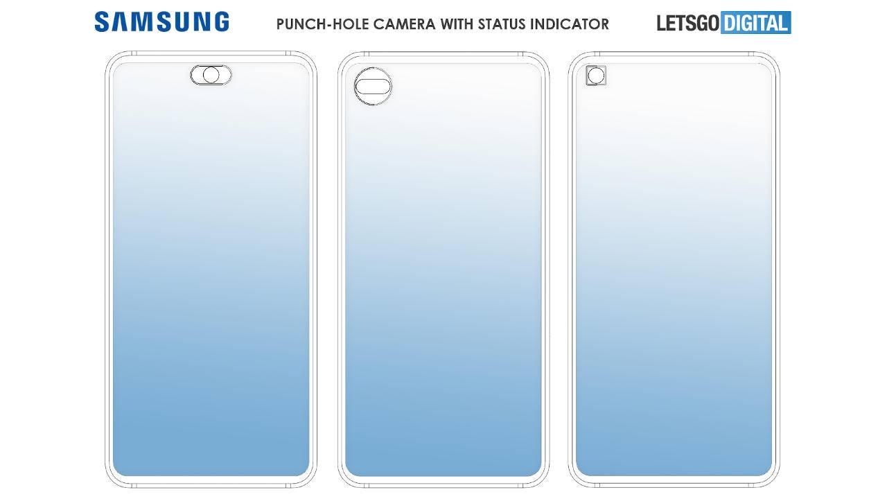 Galaxy Note 20打孔相机周围可能有状态指示灯