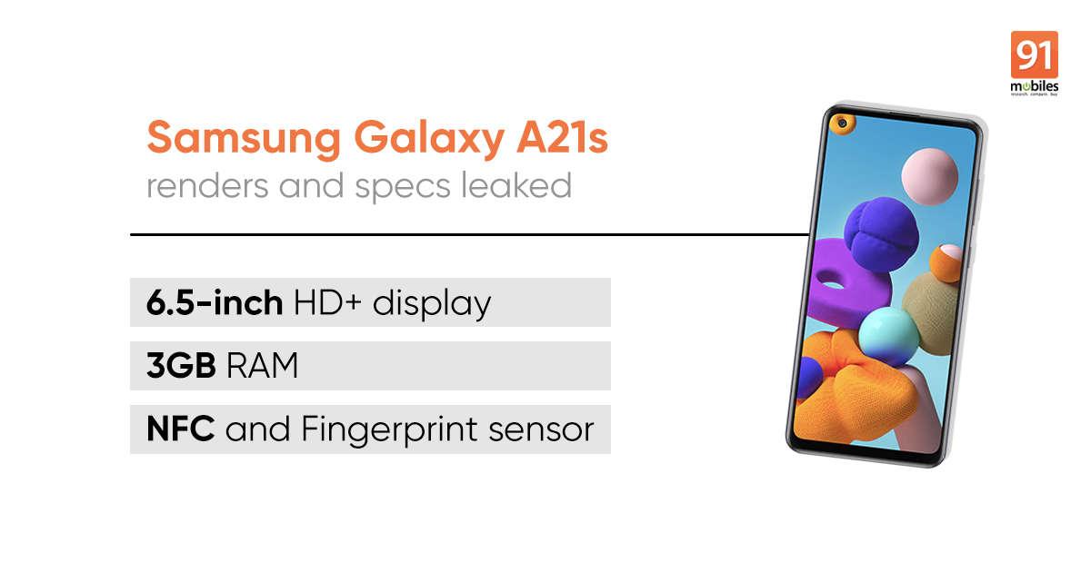 三星Galaxy A21s规格和设计再次揭晓