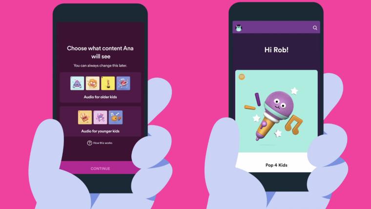 Spotify Kids应用扩展了家长的控制功能