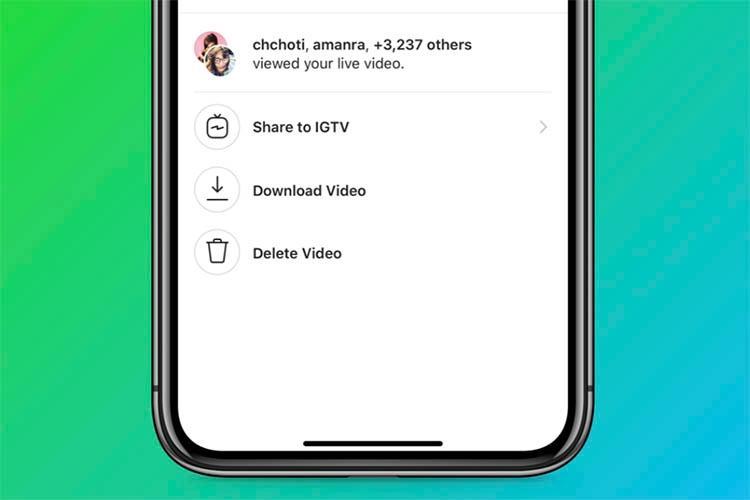 Instagram现在可让您将直播视频保存到IGTV
