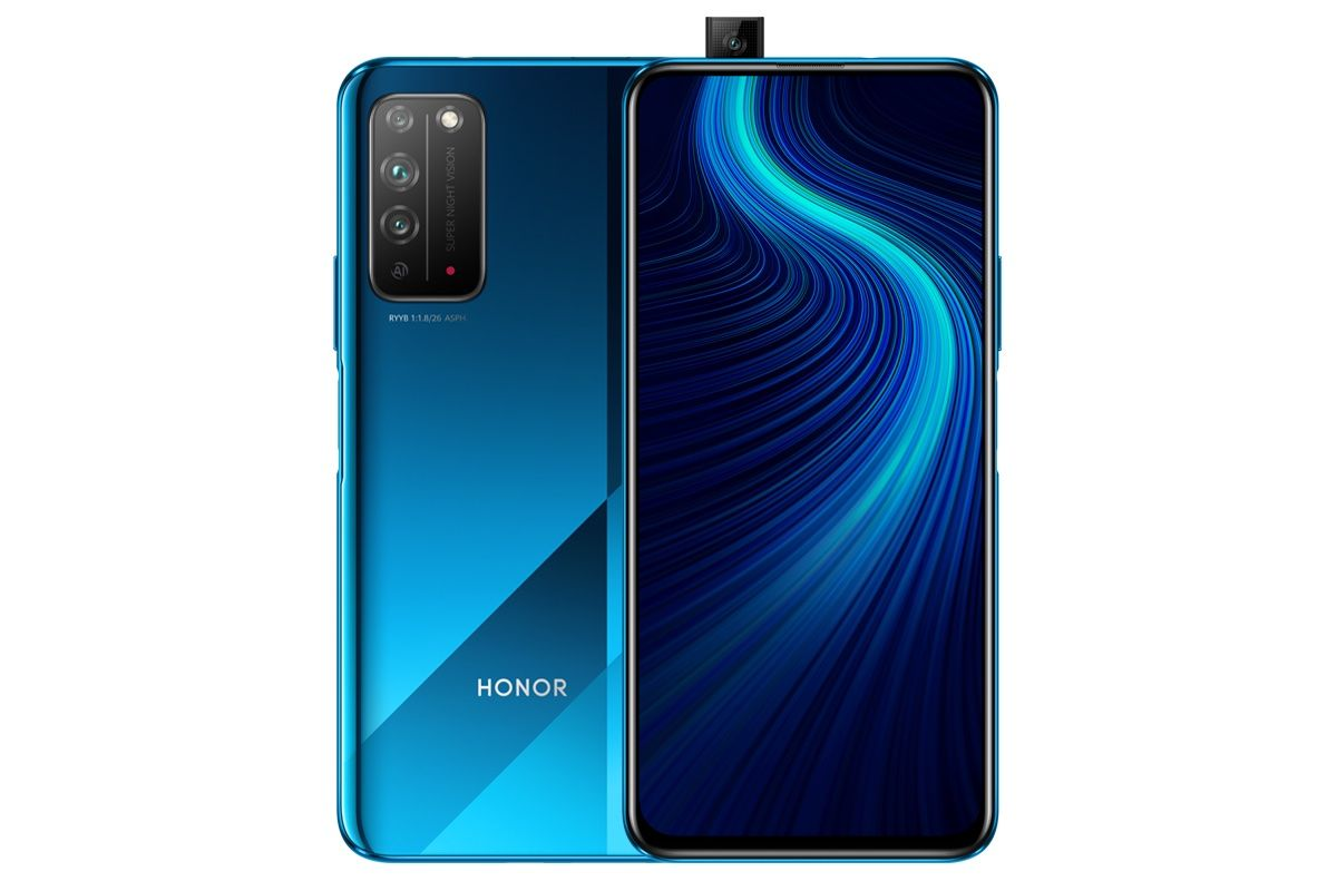 Honor X10渲染器展现了完整设计,弹出式自拍相机和侧面安装的指纹扫描仪