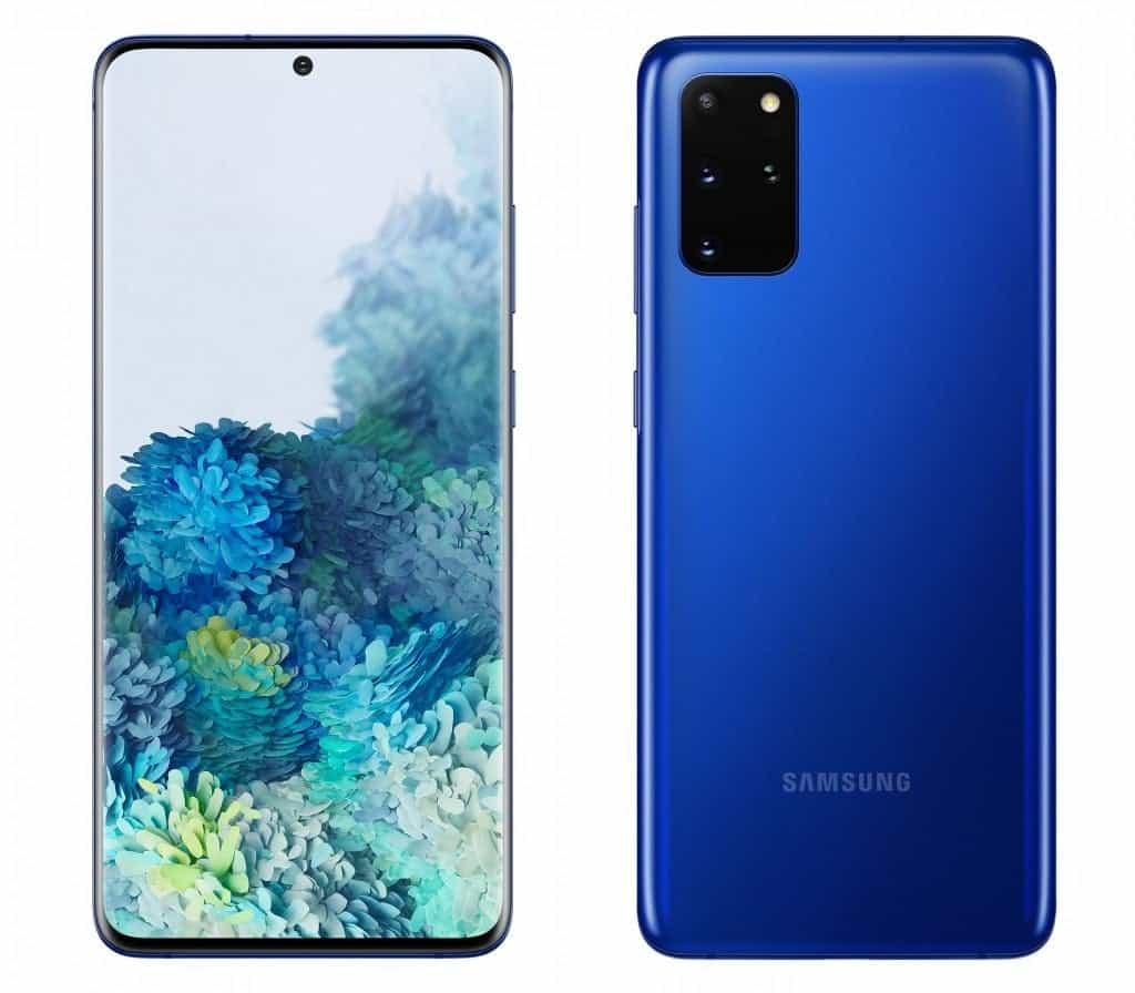 三星Galaxy S20 + Aura Blue颜色在荷兰推出