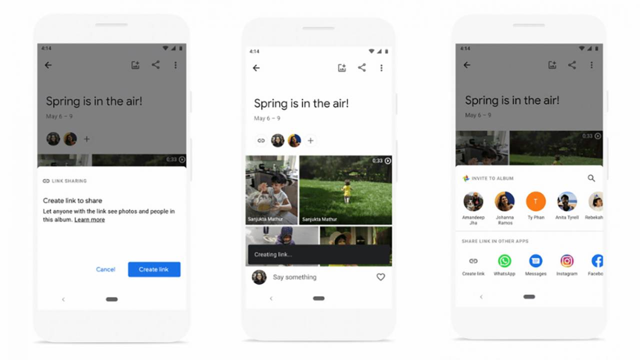 Google相册使用户可以更好地控制共享相册