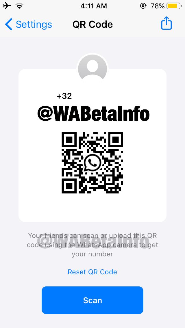 iOS版WhatsApp的新Beta测试版增加了QR码支持