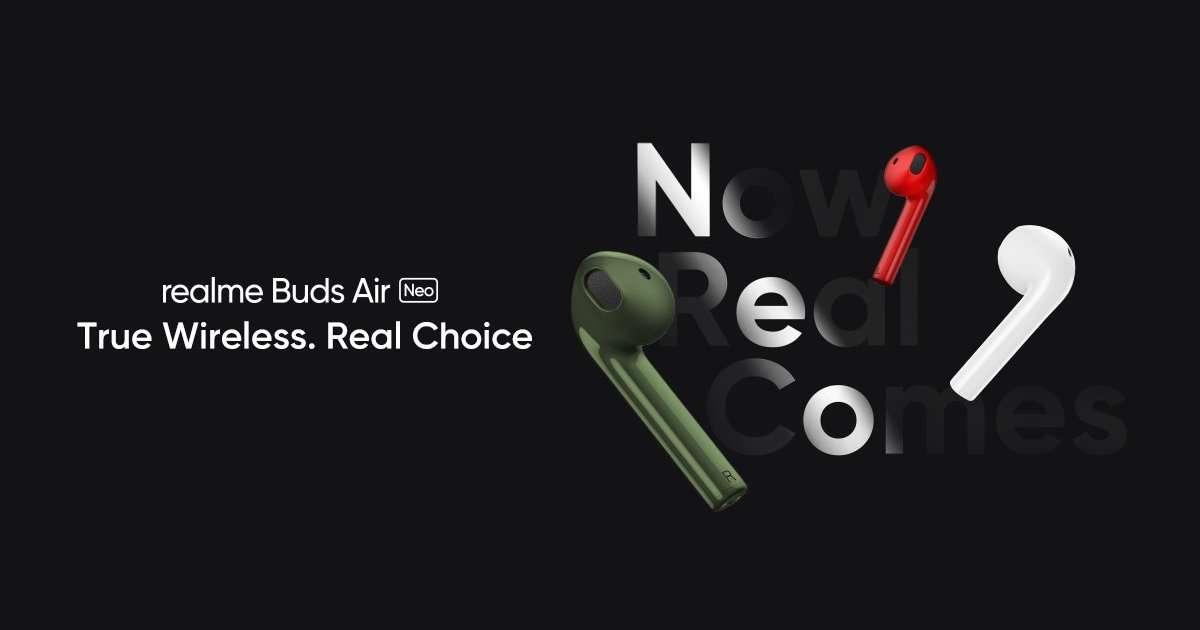 Realme Buds Air Neo India于5月25日发布:设计和功能透露,价格泄露