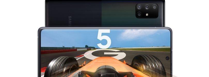 三星Galaxy A71 5G可能会通过高通Snapdragon 765进入Verizon