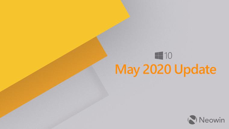Microsoft会通知用户其系统上是否阻止了Windows 10 May 2020更新