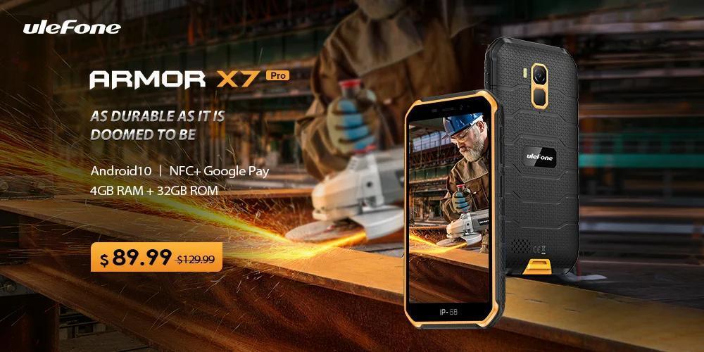 Ulefone Armor X7 Pro坚固耐用的智能手机推出5英寸显示屏,4000 mAh电池,现价$ 89.99