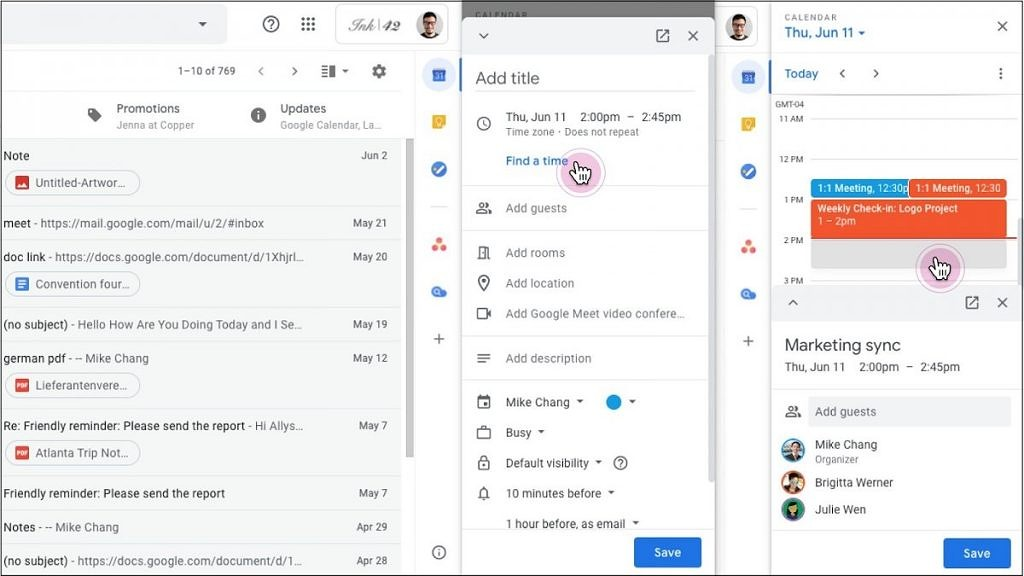 G Suite用户现在可以直接在Gmail或Google文档中编辑Google日历活动