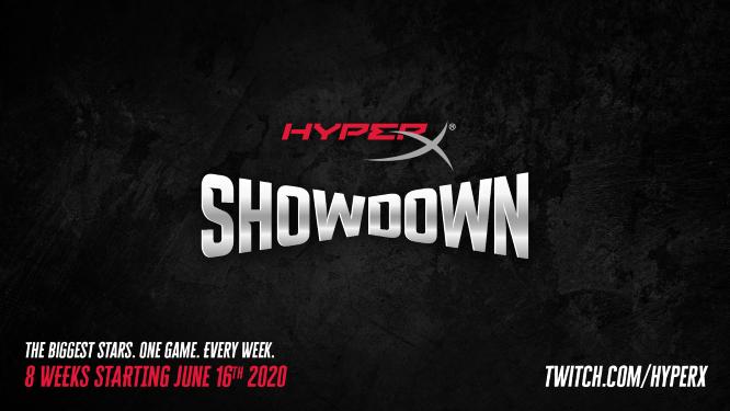 HyperX Showdown宣布,一个由知名名人和运动员参加的新游戏活动系列