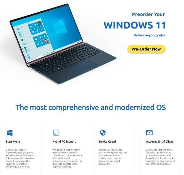 """""""微软认证""""的零售商在删除Windows 11之前会列出要预订的内容"""