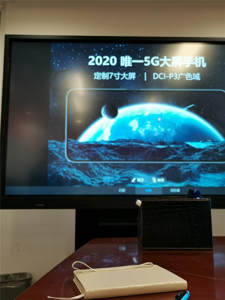 泄露的照片显示了荣耀X10 Max 5G的7英寸屏幕