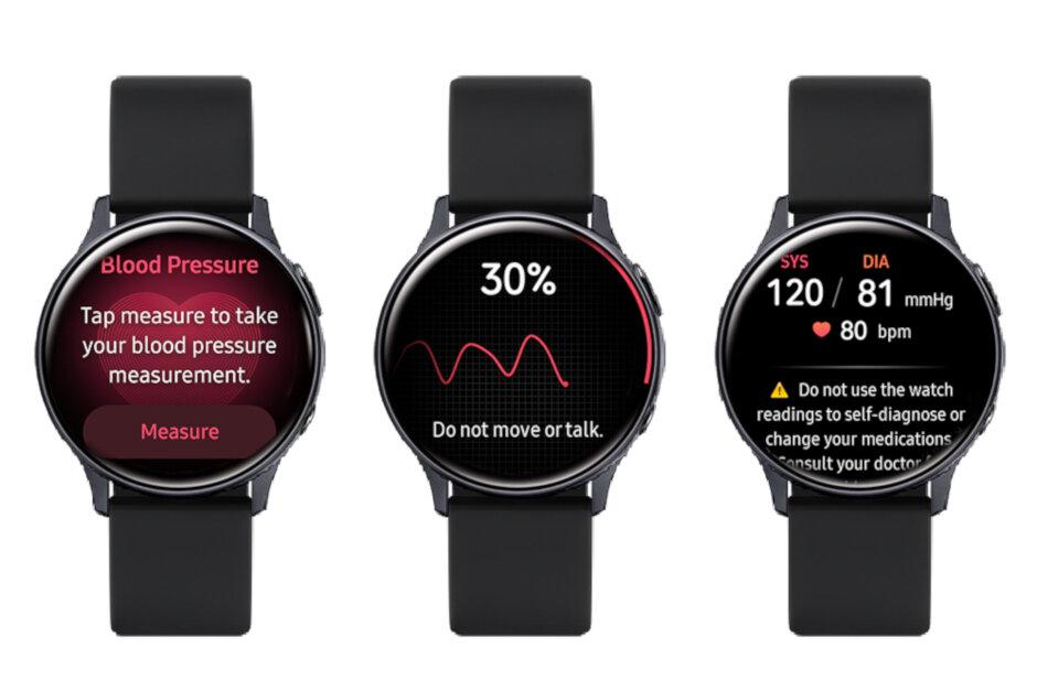 三星Galaxy Watch Active2通过血压测量获得新的Health Monitor应用程序