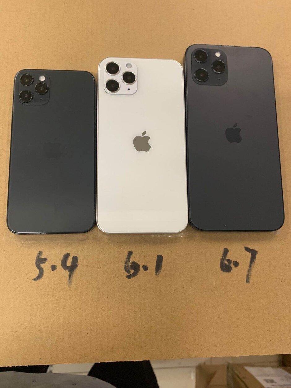 虚拟单位揭示了三种不同的5G Apple iPhone 12屏幕尺寸
