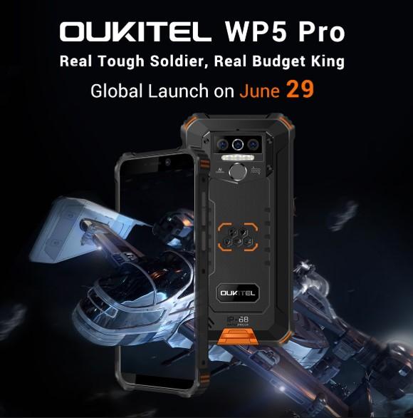 Oukitel WP5 Pro坚固型智能手机和Oukitel C19计划于7月初发布