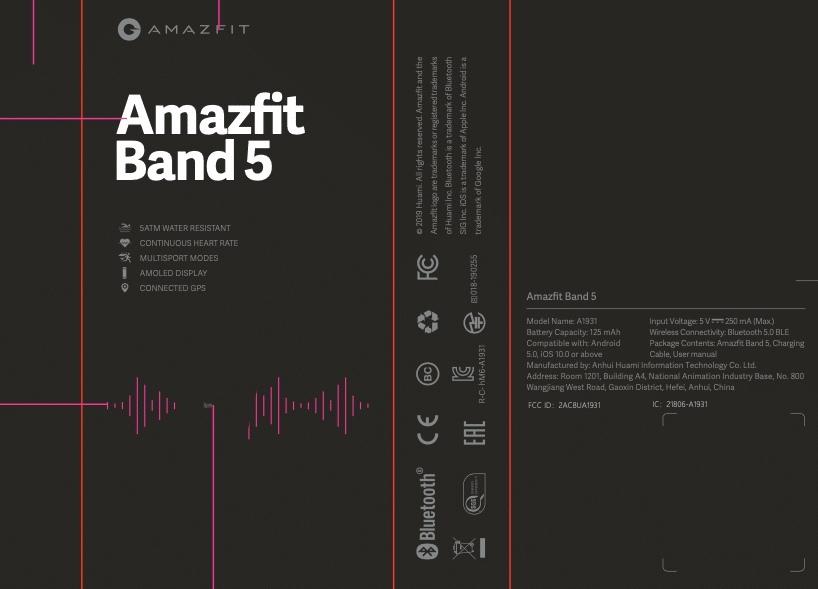 小米Mi Band 5可能以Amazfit Band 5的形式到达美国