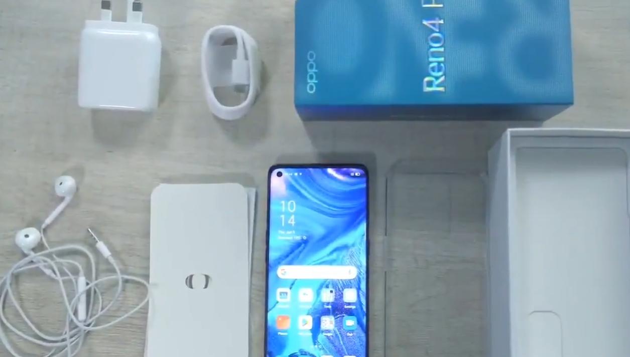 OPPO Reno4 Pro开箱视频泄漏揭示了Snapdragon 720G,四摄像头和3.5毫米音频插孔
